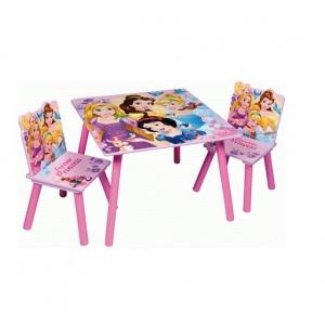 Zestaw drewniany stolik i krzesła Księżniczki