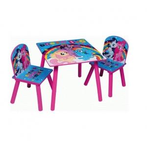 Zestaw drewniany stół i krzesła My Little Pony
