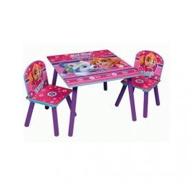 Zestaw drewniany stolik i krzesła Psi Patrol