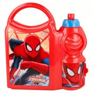 Zestaw śniadaniowy: pojemnik i bidon 400 ml Spiderman