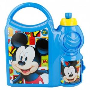 Zestaw śniadaniowy: pojemnik i bidon 400 ml Myszka Mickey