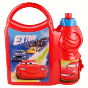 Zestaw śniadaniowy: pojemnik i bidon 400 ml Cars - Auta