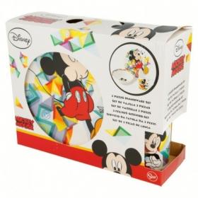 Zestaw śniadaniowy ceramiczny 3 szt Myszka Mickey