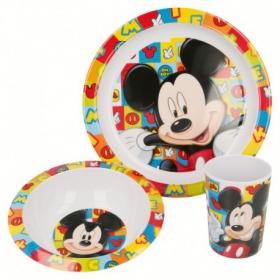 Zestaw śniadaniowy z melaminy 3 szt Myszka Mickey