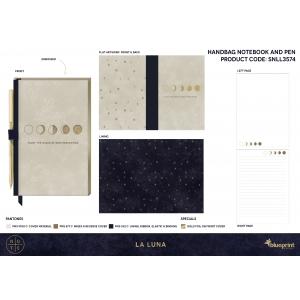 Zestaw: zeszyt + długopis Studio Note La Luna