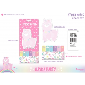 Znaczniki - sticky notes Happy Zoo - Alpaca Party