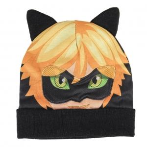 Czapka jesienna / zimowa Miraculum: Biedronka i Czarny Kot