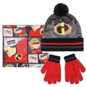 Komplet: czapka jesienna / zimowa, komin i rękawiczki Iniemamocni