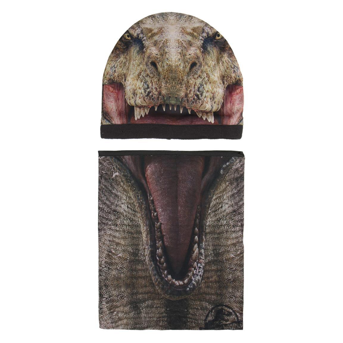 Komplet: czapka jesienna / zimowa i komin Jurassic Park - Park Jurajski