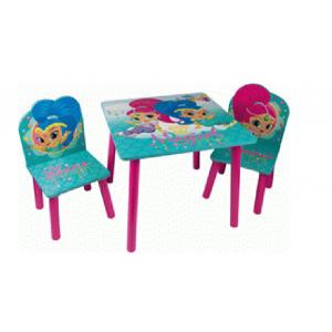 Zestaw drewniany stolik i krzesła Shimmer i Shine