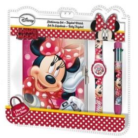 Zestaw prezentowy: zegarek na rękę, długopis i pamiętnik Myszka Minnie