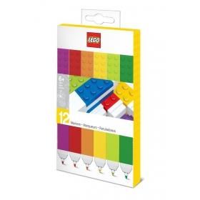 Kolorowe flamastry Lego – 12 szt