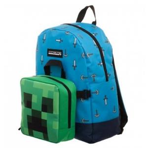 Plecak Minecraft z odczepianą śniadaniówką