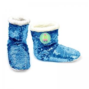 Kapcie / pantofle z cekinami Zaska – Kaktusy