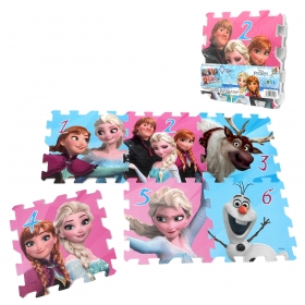 Puzzle piankowe Frozen - Kraina Lodu - 6 szt