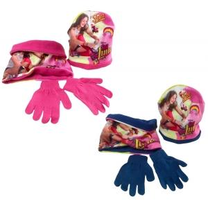 Czapka, komin i rękawiczki Soy Luna