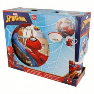 Zestaw śniadaniowy ceramiczny Spiderman 3 elementowy