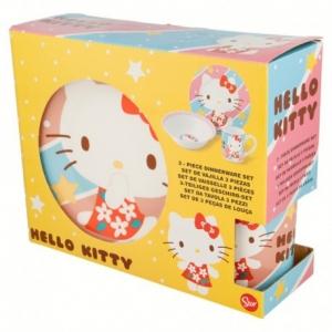 Zestaw śniadaniowy ceramiczny Hello Kitty 3 elementowy