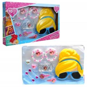 Zestaw prezentowy: akcesoria do włosów, biżuteria i okulary przeciwsłoneczne 3D Księżniczki