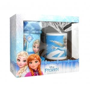 Zestaw prezentowy: kubek porcelanowy i koc polarowy Frozen - Kraina Lodu
