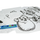 Monsters University colouring posters A3