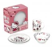 Zestaw śniadaniowy 3 el. szklany Hello Kitty