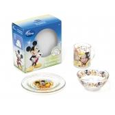 Zestaw śniadaniowy szklany Myszka Mickey