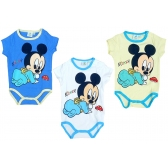 Mickey Mouse short sleeve baby body