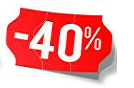 Products with 40% discount