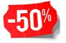 Products with 50% discount