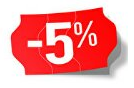 Products with 5% discount
